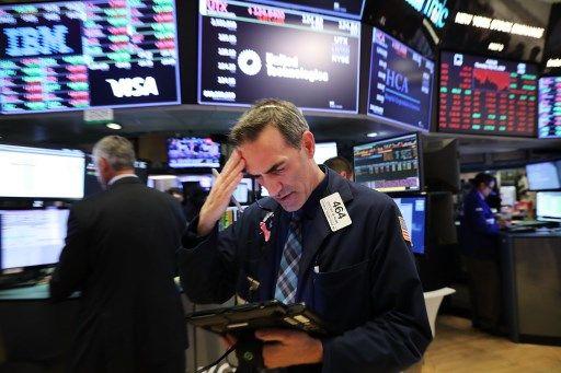 Un trader à la Bourse de New York.