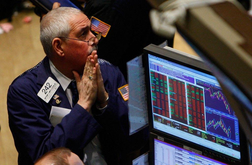 Un trader à la Bourse de New York le 7 octobre 2008.