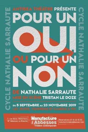 """Théâtre : """"Pour un oui pour un non"""" : Les mots qu'on n'a pas eus"""