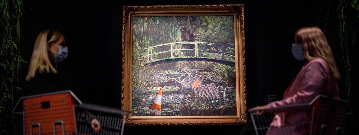 Banksy Show me the monet tableau oeuvre enchères