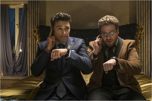 """Les deux acteurs de """"L'interview qui tue""""."""