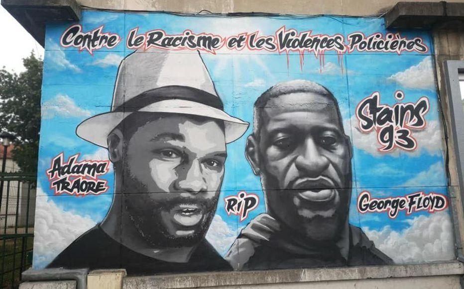 Non ce n'est pas bien d'avoir tagué la fresque en hommage à Adama Traoré : il fallait juste la « contextualiser »