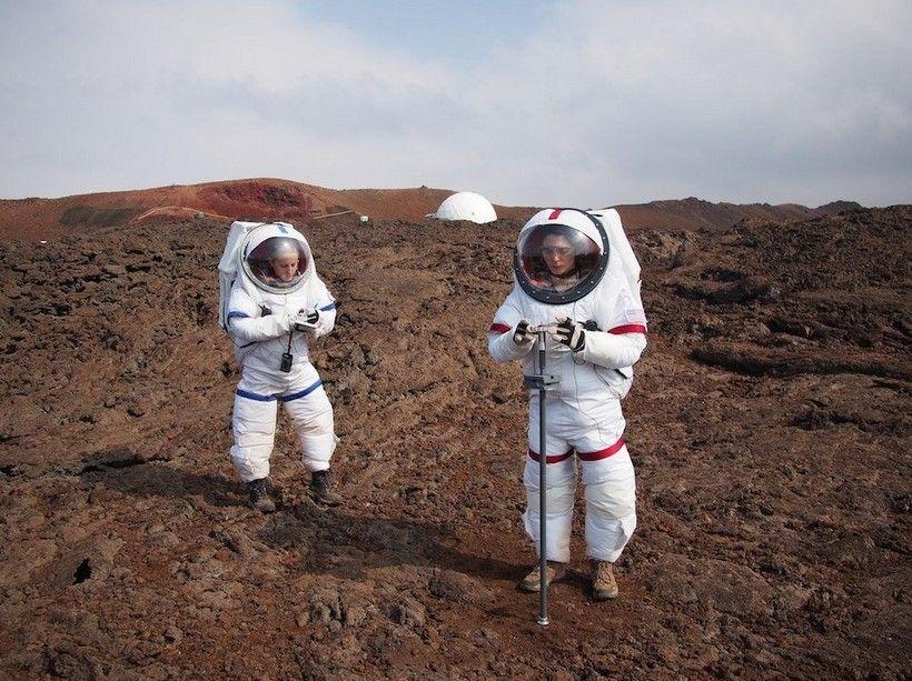 Les scientifiques ont mené des expériences dans des conditions proches de celles sur Mars.
