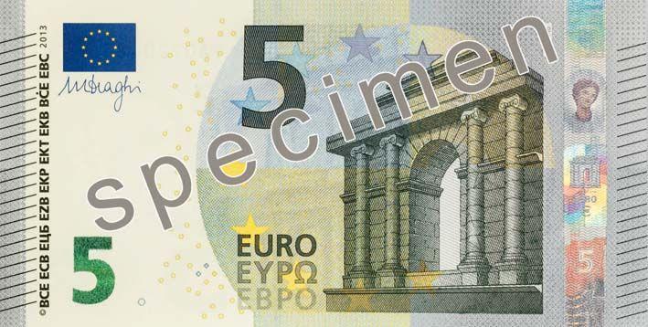 La BCE a dévoilé jeudi 10 janvier le nouveau billet de 5 euros.