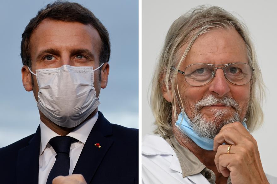 Emmanuel Macron personnalités Didier Raoult hydroxychloroquine Geoffroy Lejeune Valeurs Actuelles Philippe de Villiers