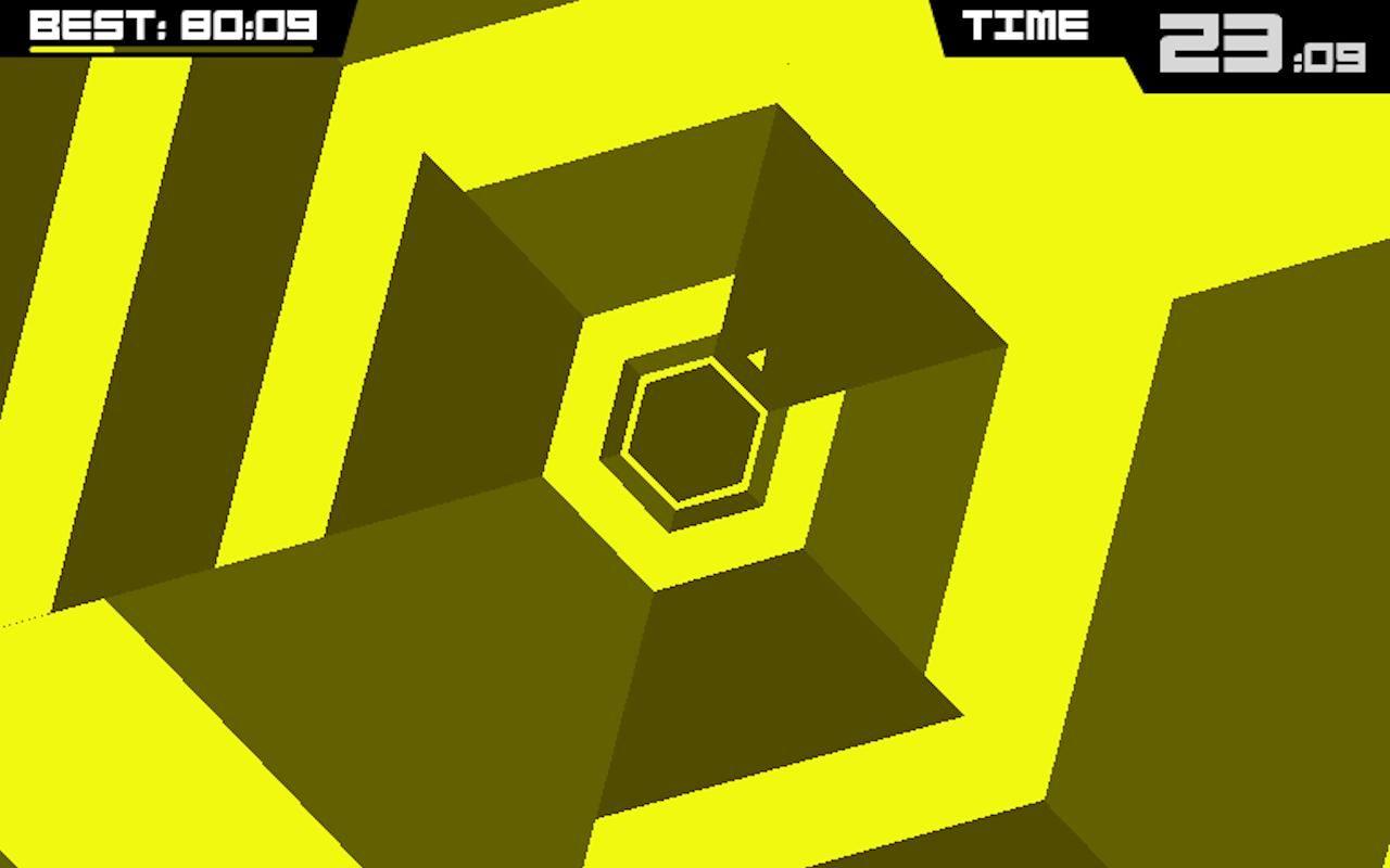 Super Hexagon est capable de terrasser même le plus aguerri et le plus habile des joueurs.
