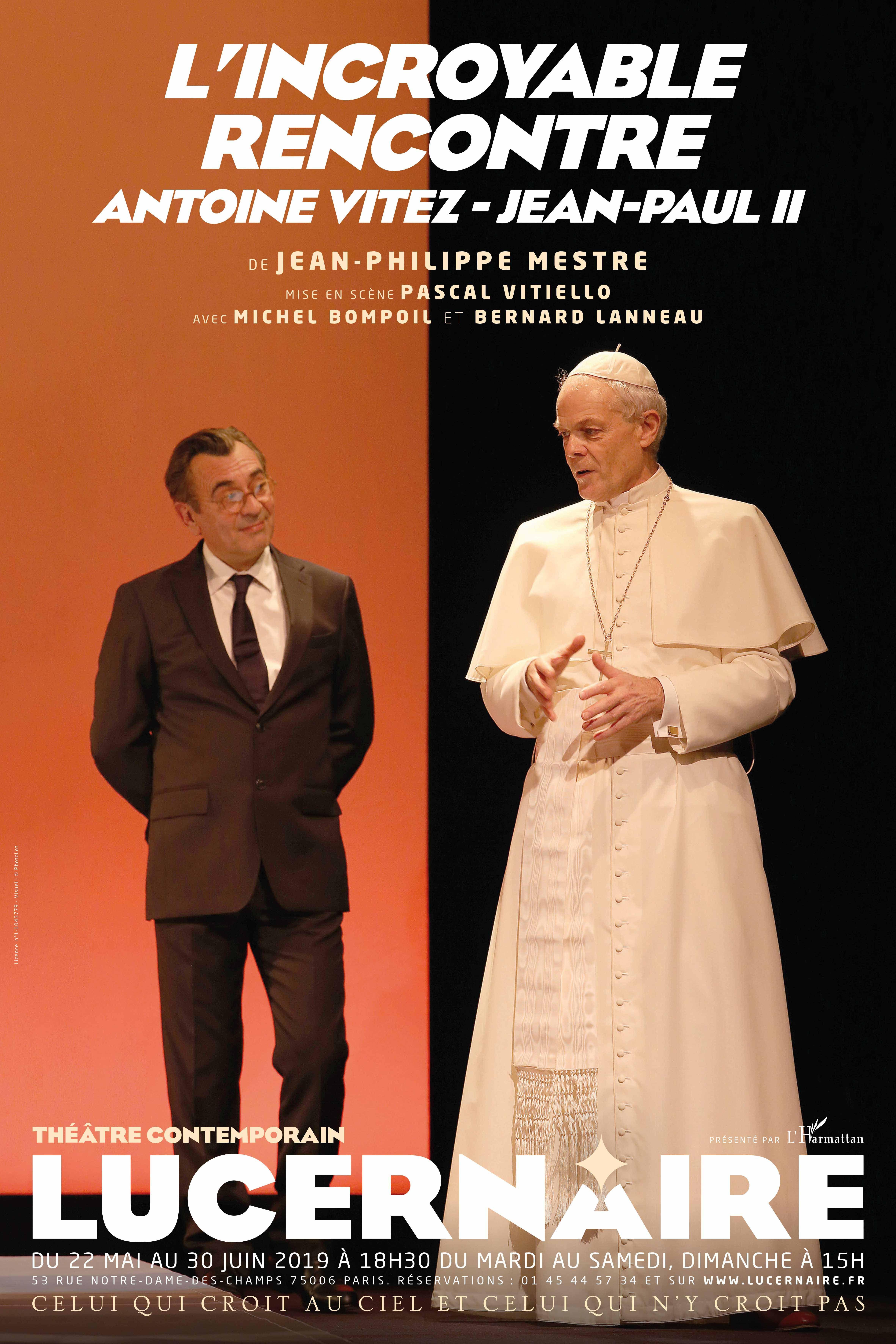 """""""L'incroyable rencontre Antoine Vitez - Jean-Paul II"""" de Jean-Philippe Mestre: une formidable leçon d'humanisme"""