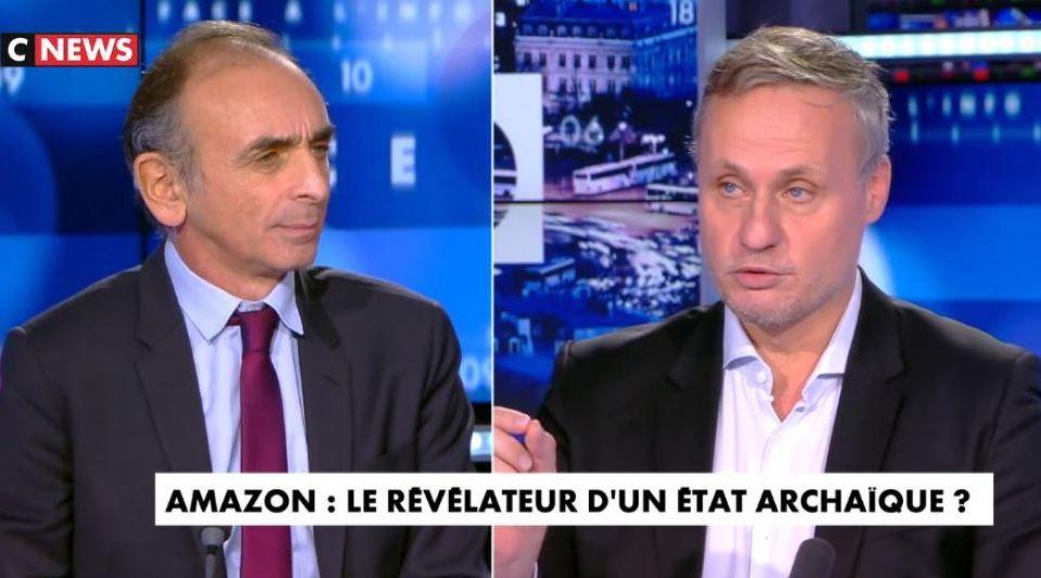 Face à l'info Amazon Eric Zemmour Jean-Sébastien Ferjou Marc Menant Eric de Riedmatten Jeff Bezos libéralisme capitalisme