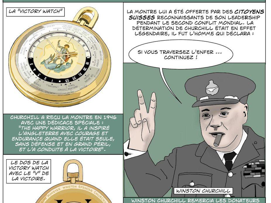 La Victory Watch – une montre offerte à Winston Churchill en 1946 par les citoyens de Genève…