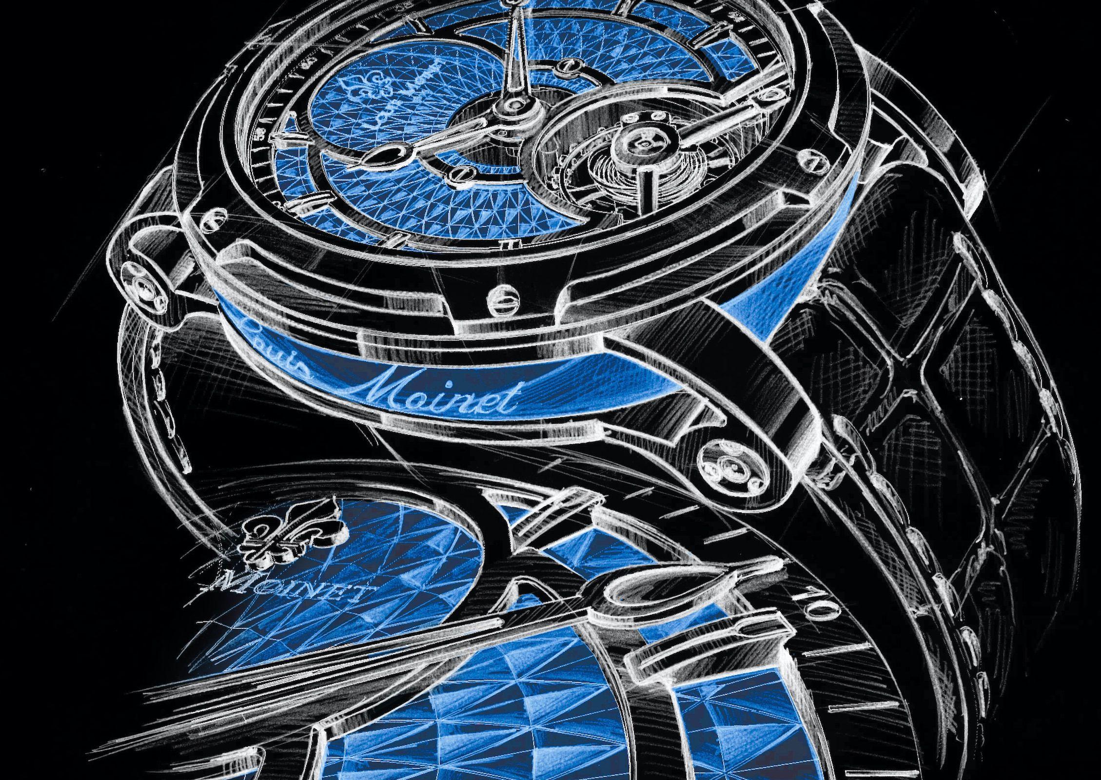 Une symphonie en bleu pour l'horloger français que les Suisses préféreraient oublier…