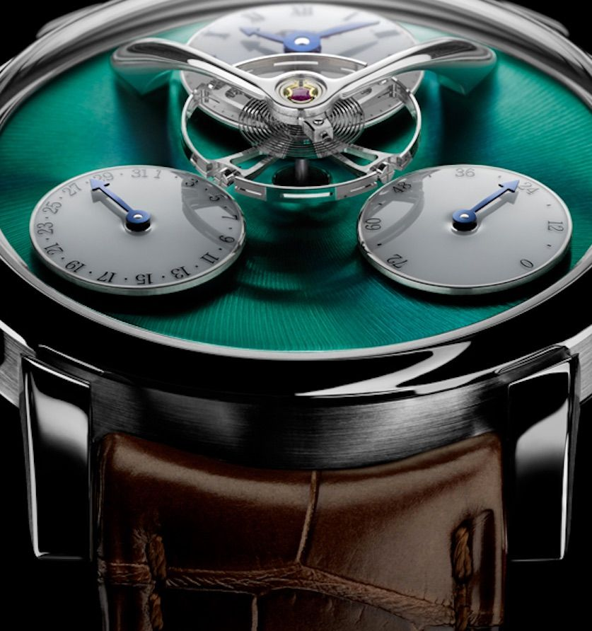 Une esthétique très contemporaine pour une mécanique d'avant-garde : le temps suspend son vol…