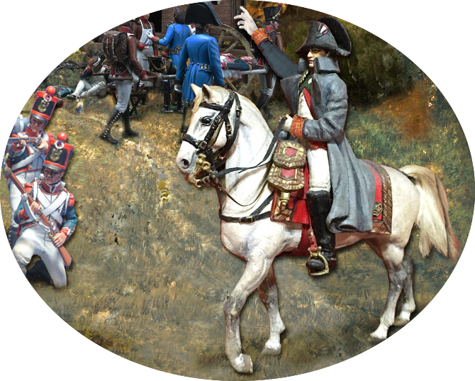 L'Empereur monté sur Marengo pour surveiller la bataille (Christophe Claret)…