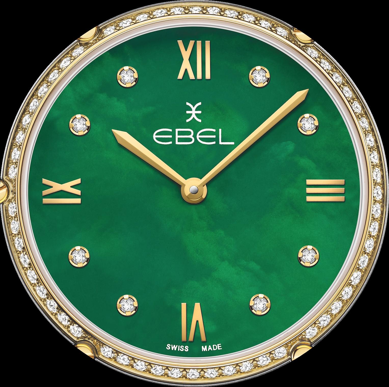 Nacre verte et diamants blancs pour une élégance féminine qui sait oser (Ebel)…