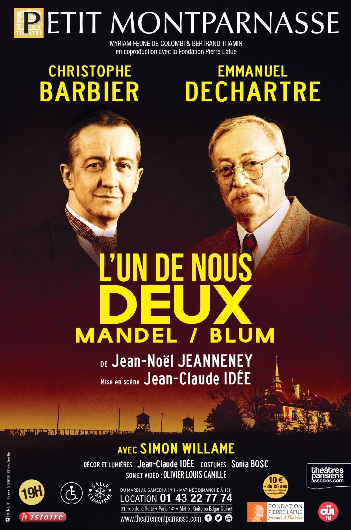 """Théâtre : """"L'un de nous deux"""" de Jean-Noël Jeanneney"""