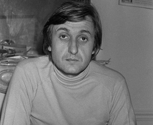 Photo datée du 28 décembre 1979 du journaliste Jean-François Bizot, à la rédaction d'Actuel à Paris.