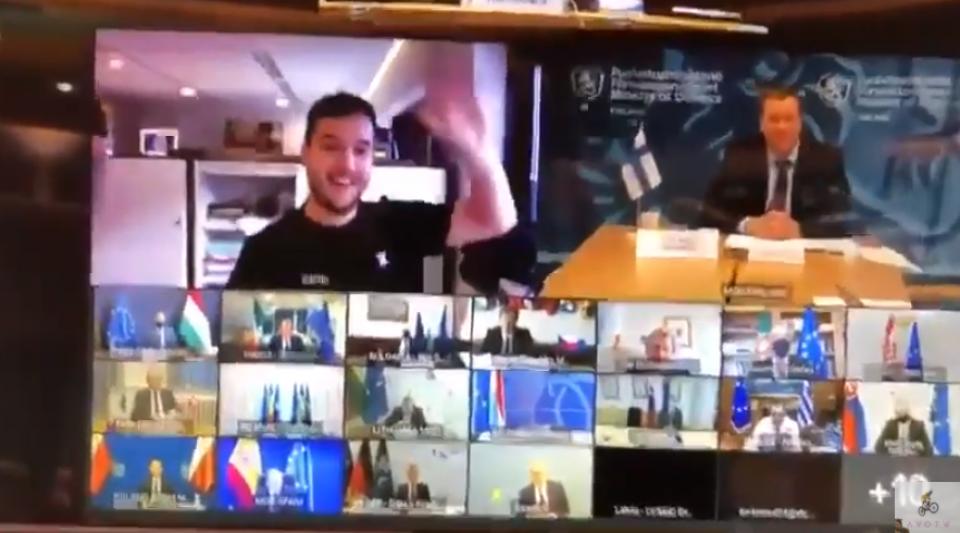 Un journaliste parvient à se connecter à une vidéoconférence confidentielle de l'Union européenne