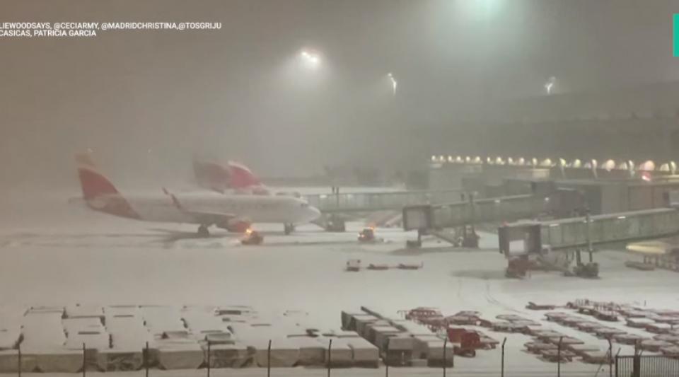 Madrid connait des chutes de neige historiques