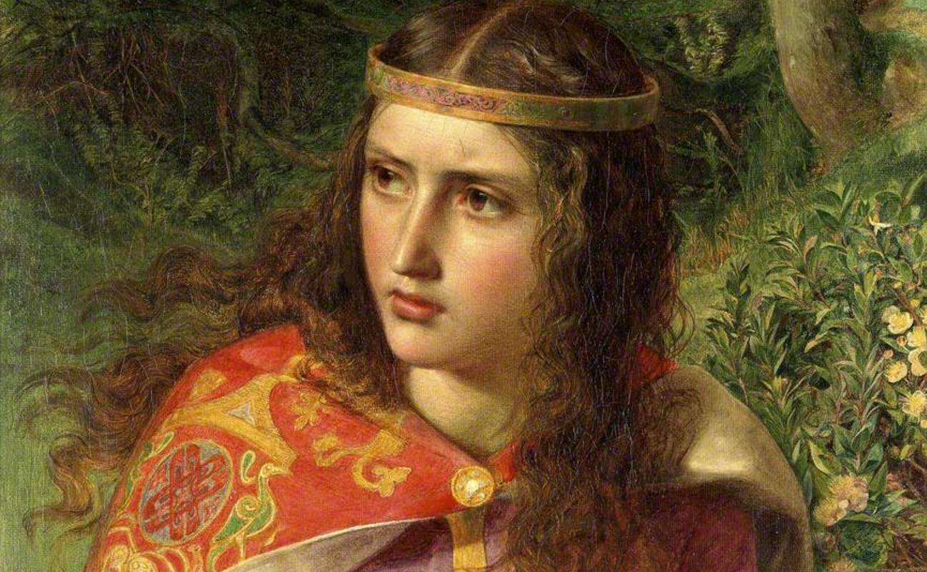 Aliénor d'Aquitaine par Frederick Sandys, 1858.