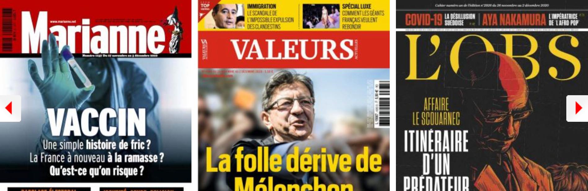 L'actualité grise Macron dans «sa vision romanesque de la vie»; Le PS clarifie sa ligne sur la laïcité, EELV s'embrouille sur la sienne; Hidalgo s'inquiète de l'impact du gauchisme des Verts (sur son image); Mélenchon peu présidentiable aux yeux des Fra