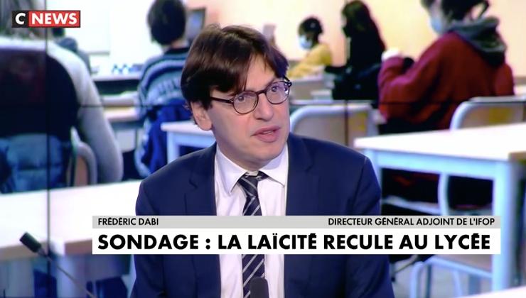 Frédéric Dabi est revenu sur CNews sur le dernier sondage de l'Ifop sur la laïcité auprès des lycéens.