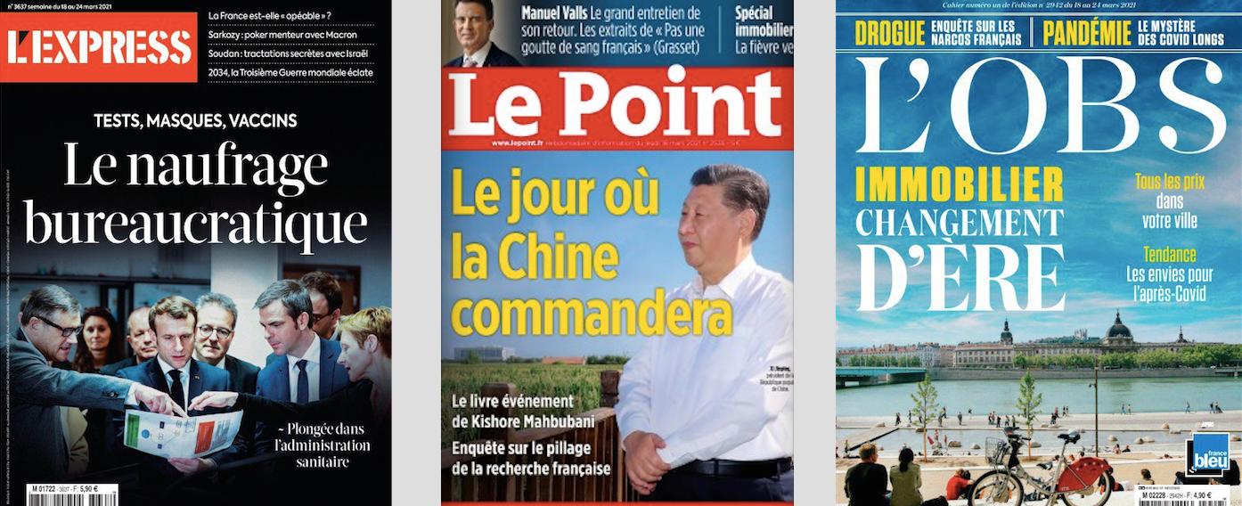 Et si Pompili était en train de comploter avec Hidalgo et Sarkozy avec Macron ?; Bertrand beaucoup plus fort que Macron face à Le Pen; La Chine mieux armée que les Etats-Unis dans la nouvelle guerre froide.