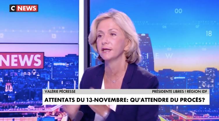 Valérie Pécresse était l'invitée de Laurence Ferrari sur CNews, ce mardi 7 septembre.