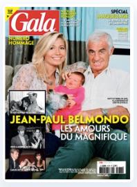 Hommage à Jean-Paul Belmondo, en Une des hebdos People, ainsi que Laetitia Casta et son bébé, Patrick Bruel et Audrey Fleurot