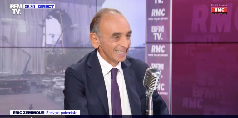 Eric Zemmour était l'invité, ce mercredi 15 septembre, de Jean-Jacques Bourdin sur BFMTV et RMC.