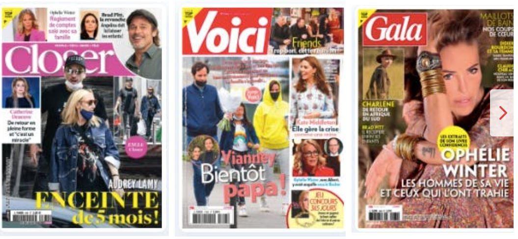 Cette semaine, l'actualité People est largement dominé par deux majeures : la garde partagée pour Brad et le grand déballage d'Ophélie Winter