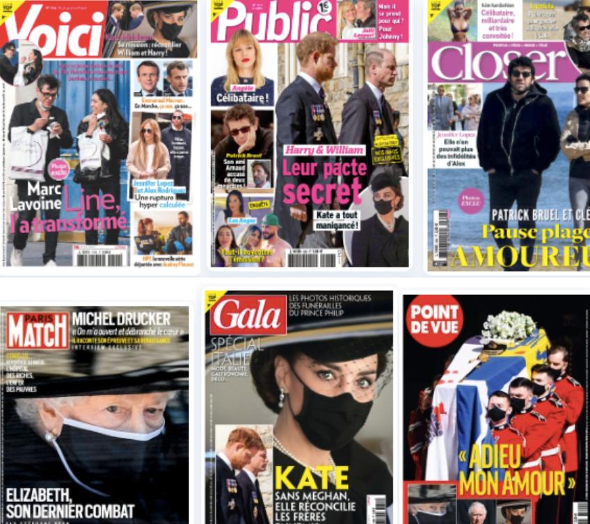 Revue de presse people du 24 avril 2021.