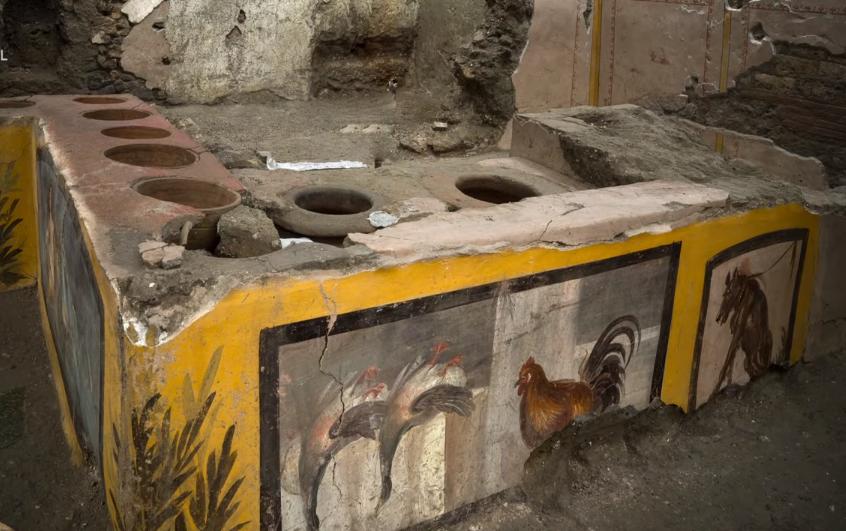 Pompéi : une échoppe de restauration rapide découverte quasiment intacte