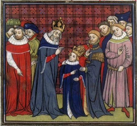 Charlemagne et son fils Louis le Pieux.