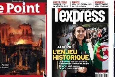 Les puissants relais de l'Algérie en France ; Ces amis de Ghosn que tout le monde craignait chez Renault; L'avertissement de Philippe à Castaner; Technip: et un mégagâchis industriel de plus; Notre-Dame partout dans les hebdos, le catholicisme plus rare