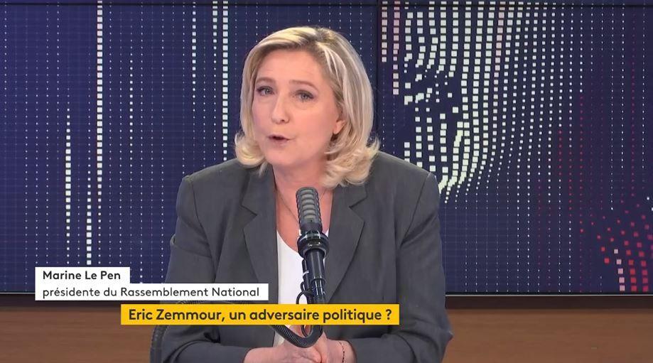 Marine Le Pen était l'invitée politique de la matinale de France Info en ce vendredi 25 juin. Elle a été interrogée sur l'élection présidentielle et sur la potentielle candidature d'Eric Zemmour.
