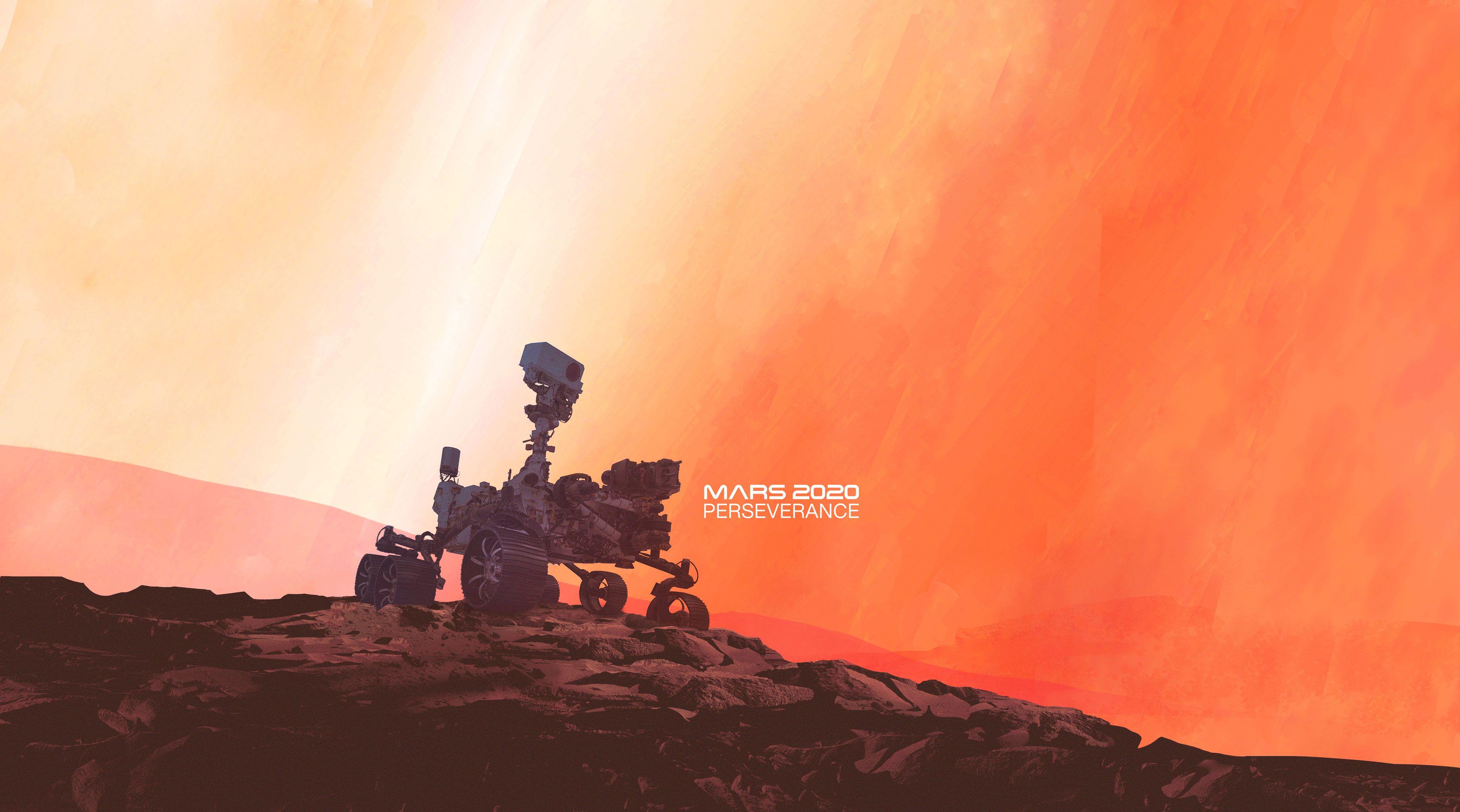 Le rover Perseverance sur Mars (vue d'artiste).