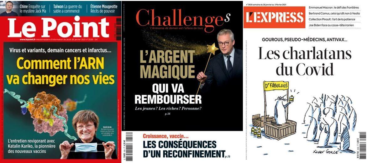 Le gouvernement ne veut pas dire pourquoi il ne ferme pas les frontières, les Français ne veulent pas rembourser la dette publique; Multiples promesses de l'ARN, multiplication des charlatans aux méthodes «naturelles»