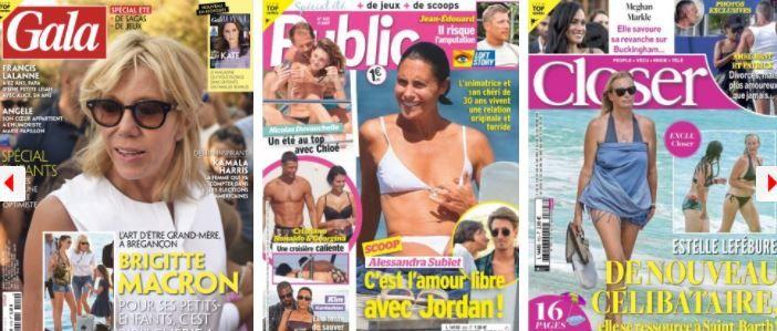 Brigitte Macron Alessandra Sublet fort de brégançon Jean-Edouard Loft Laurent Delahousse Meghan et Harry Estelle Lefébure
