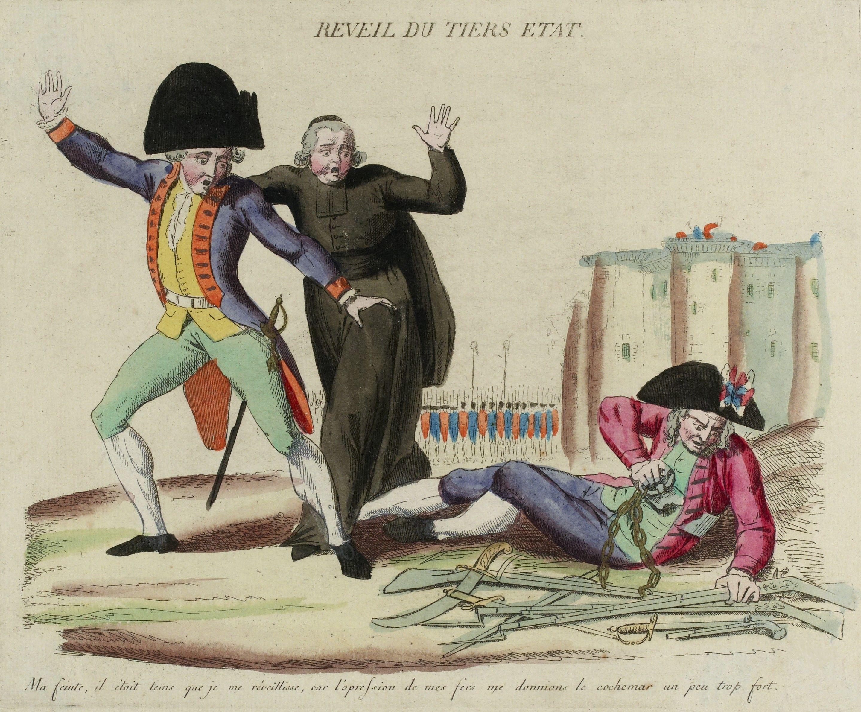Réveil du tiers état, gravure anonyme, Paris, musée Carnavalet, vers 1789.