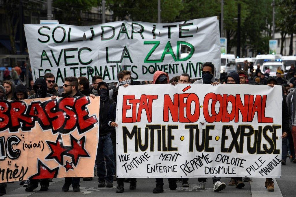 Manifestations police Etat ZAD Etat AFP