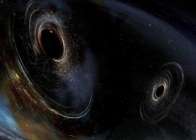 On a détecté les ondes gravitationnelles de la fusion de deux trous noirs