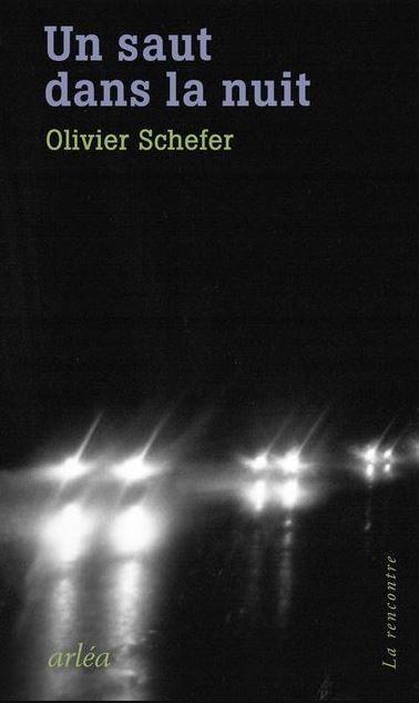 """Le roman """"Un saut dans la nuit"""" d'Olivier Schefer a été publié aux éditions Arléa."""