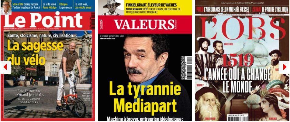 """Assemblèe Nationale : Ferrand régale maigre ; Sarkozy tente de rabibocher Bolloré et Hidalgo ; Valeurs Actuelles mitraille Mediapart ; L'Express découvre l'année qui """"a changé le monde"""" (ou pas)"""