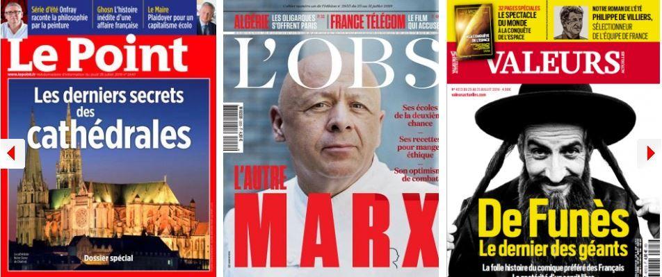 Boris Johnson, le Donald Trump britannique ; Franz-Olivier Giesbert vent debout contre Mediapart ; Bruno Le Maire, chantre du capitalisme moral made in USA ; Louis de Funès, héro anti-bobo de Valeurs actuelles