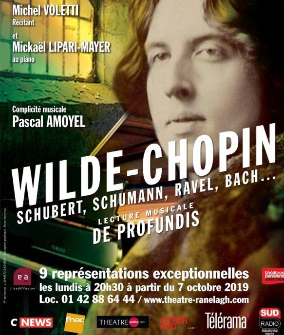 """""""Wilde-Chopin, Schubert, Schumann, Ravel, Bach..."""" : lecture musicale... De profundis"""