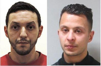 Mohammed Abrini (g.) et Salah Abdeslam