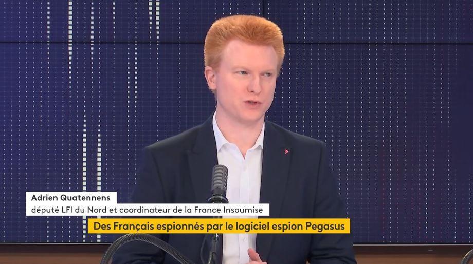 Adrien Quatennens, le député La France Insoumise du Nord, était l'invité politique de France Info en ce mardi 20 juillet 2021.