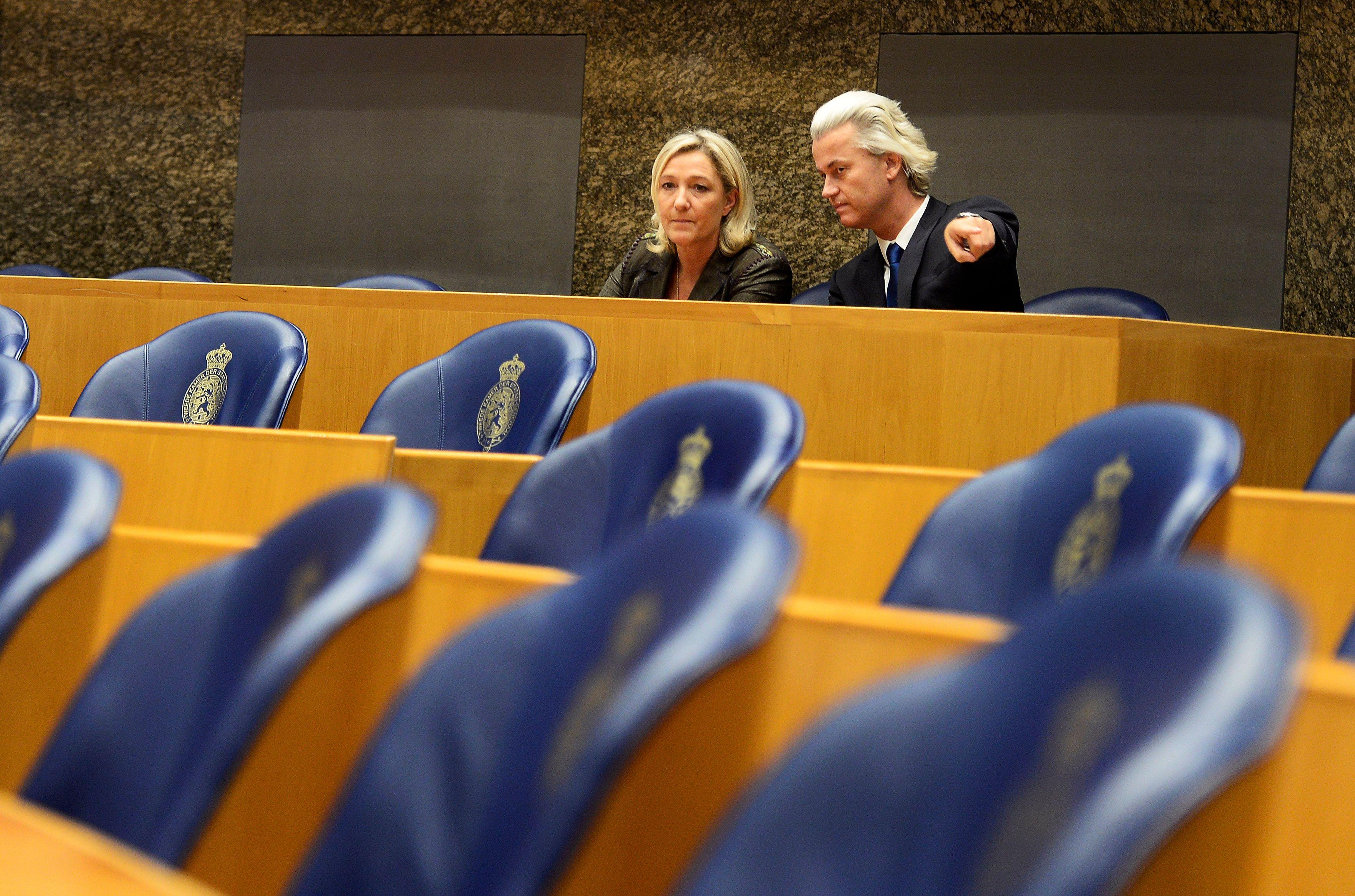 Marine Le Pen et Geert Wilders, fondateur du PVV.