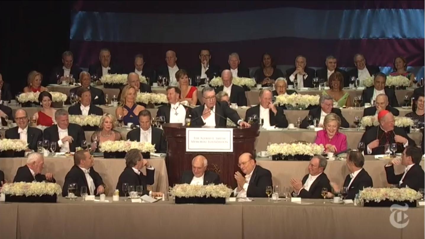 Les meilleures (et pires) blagues d'Hillary Clinton et Donald Trump au traditionnel Al Smith Dinner