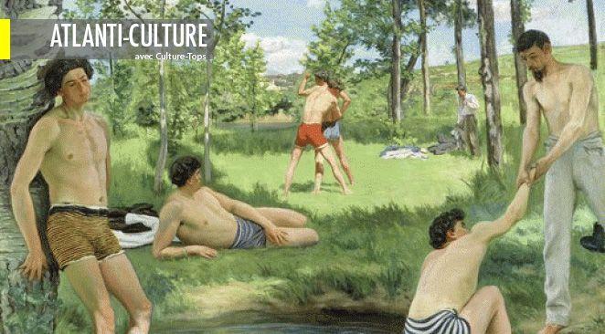 Bazille, metteur en scène d'images, porte avec audace dans cette série de tableaux le projet de la modernité dans la représentation du nu réaliste en plein air, loin du nu académique peint en atelier.