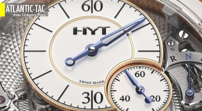 Des minutes lisses et des secondes douces pour les heures fluides de HYT (Hydro Mechanical Time)…